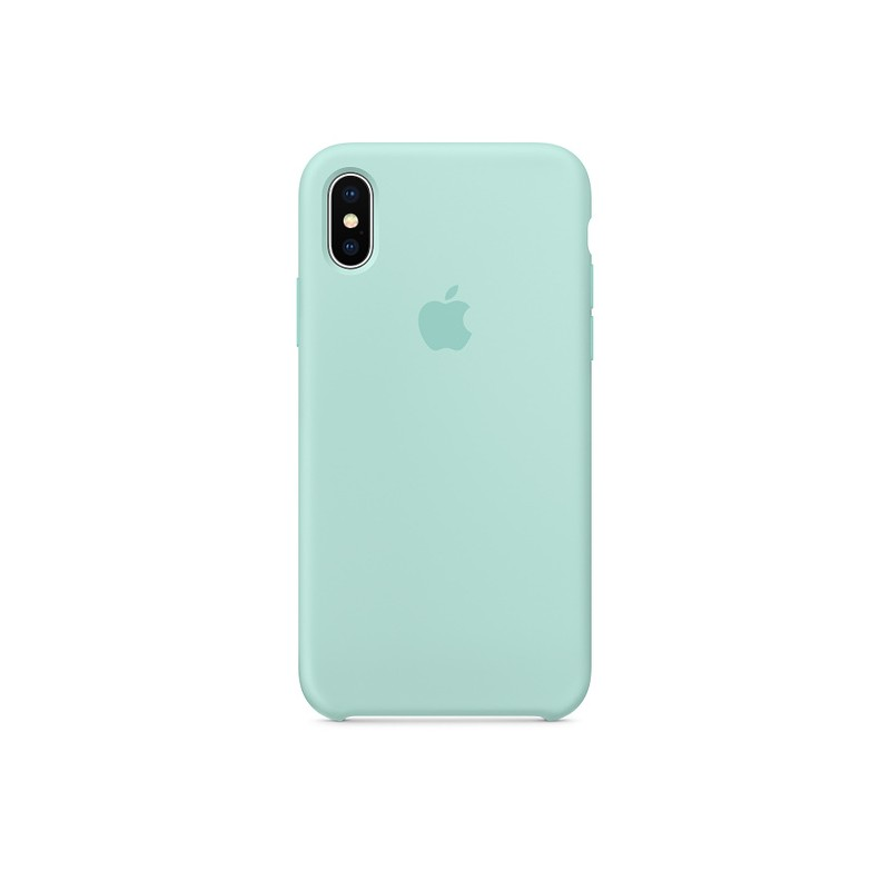 iPhone X / XS Silicone Case Marine Green