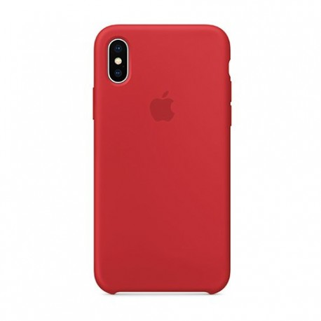 iPhone X / XS Silicone Case Red