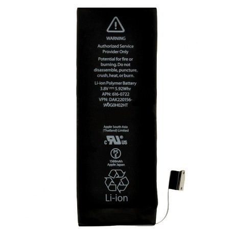 Batéria Apple iPhone 5S – 1560mAh APN 616-0721